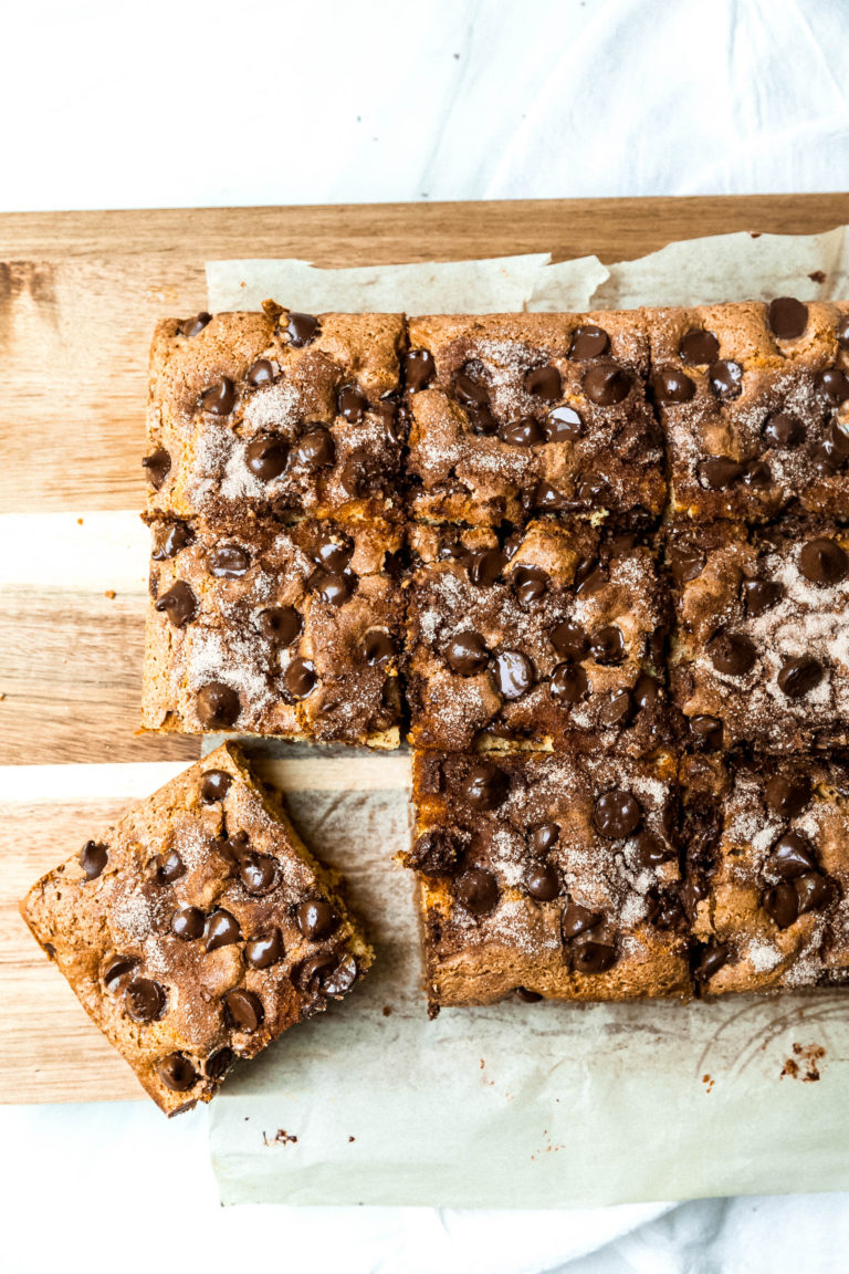 Chocolate Chip-Sour Cream Coffee Cake